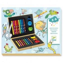 Caja de colores set para colorear