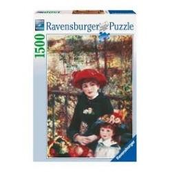 Puzzle Ravensburger de 1500 piezas Dos hermanas en la terraza