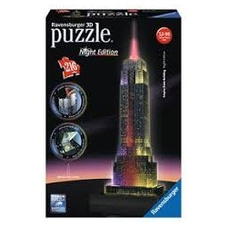 Puzzle Ravensburger 3D Empire State Building Night