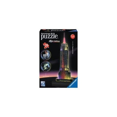 Puzzle Ravensburger 3D Night Edition Empire State Building