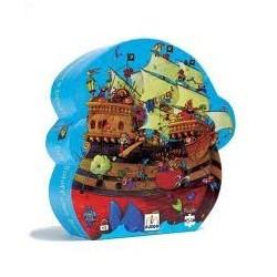 Puzzle silueta. El barco de barbaroja