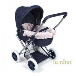 carro Cuco con ruedas pequeño Paula rosa