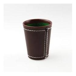 Cubilete de cuero marrón de Fournier