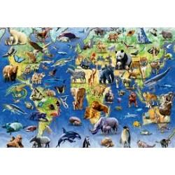 Puzzle Ravensburger de 500 piezas Animales en peligro de extinción