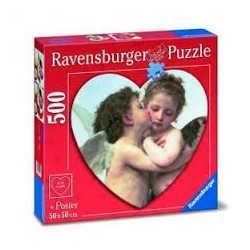 Puzzle Ravensburger de 500 piezas Cupido y Psyche de niños