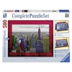 Puzzle Ravensburger de 500 piezas Set de base y puzzle Colores de Nueva York
