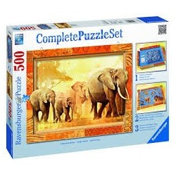 Puzzle Ravensburger de 500 piezas Set de base y puzzle Gigantes de África