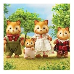 Sylvanian 5215 Familia de Pandas rojos