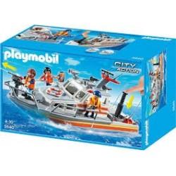 Playmobil 5540 Barco de rescate con manguera