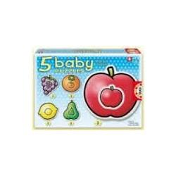 Puzzle Educa progresivo. 5 baby puzzles Frutas