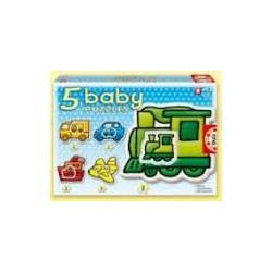 Puzzle Educa progresivo. 5 baby puzzles Transportes