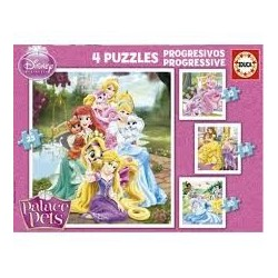 Puzzle Educa progresivo. Palace Pets