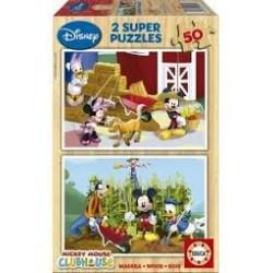 Puzzle Educa de 2 x 50 piezas Mickey Club House