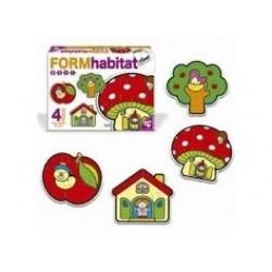 Puzzle Diset progresivo. Form Habitat