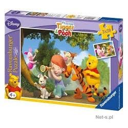 Puzzle Ravensburguer de 2 x 20 piezas. Un gran cochinillo. Winnie the Pooh
