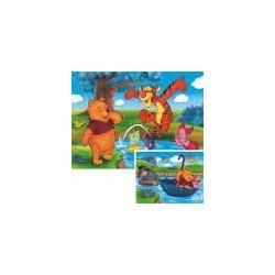 Puzzle Ravensburguer de 2 x 20 piezas. Jugando en el agua. Winnie the Pooh