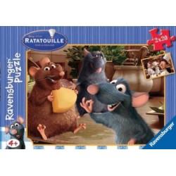 Puzzle Ravensburguer de 2 x 20 piezas. Divirtiéndose con Remy. Ratatouille