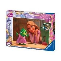 Puzzle Ravensburguer de 2 x 20 piezas. Rapunzel