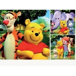 Puzzle Ravensburguer de 3 x 49 piezas. Hola Tigger y Winnie The Pooh