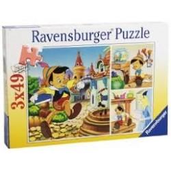 Puzzle Ravensburguer de 3 x 49 piezas. Pinocho
