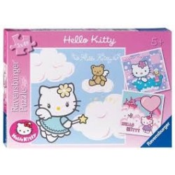 Puzzle Ravensburguer de 3 x 49 piezas. Adorable Hello Kitty
