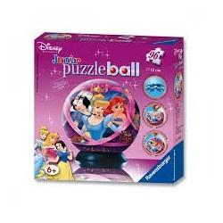 Puzzle Ravensburguer de 96 piezas. Puzzle ball junior. Princesas Disney