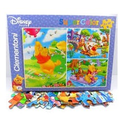 Puzzle Clementoni Supercolor de 3 x 48 piezas Winnie the Pooh