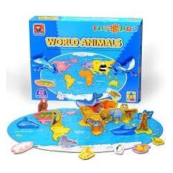 Puzzle Toysbro de 41 piezas Mundo