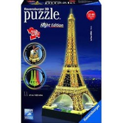 Puzzle Ravensburger 3D Torre Eiffel. Night Edition