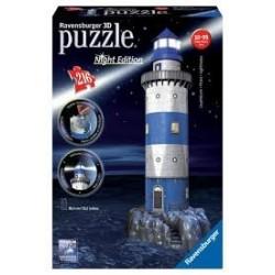 Puzzle Ravensburger 3D Night Edition Faro con luz