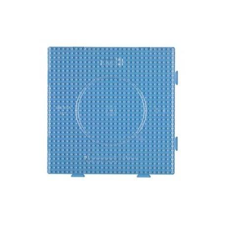 Hama beads Midi 1 Placa cuadrada transparente conectable 15 x 15 cm