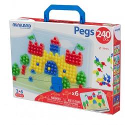 Puzzle de pinchos o clavijas. 240 piezas