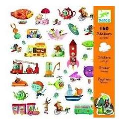 160 pegatinas ¡Pegatinas Vamos! Djeco
