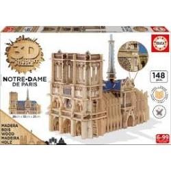 Puzzle Educa 3D  Notre Dame. París