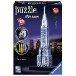 Puzzle Ravensburger 3D Chrysler. Night Edition