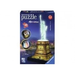 Puzzle Ravensburger 3D Night Edition Estatua de la Libertad