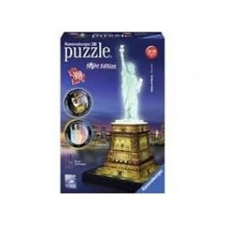 Puzzle Ravensburger 3D Estatua de la Libertad. Night Edition