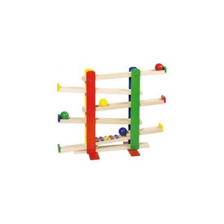 Circuito de bolas con xilófono