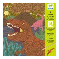 Cuadros para rascar. Dinosaurios