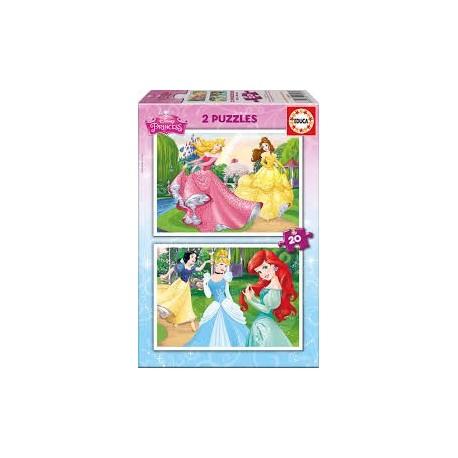 Puzzle Educa de 2 x 20 piezas Princesas Disney