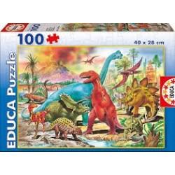 Puzzle Educa de 100 piezas Dinosaurios