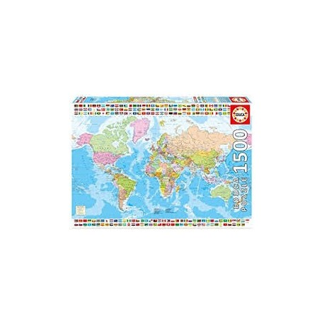 Puzzle Educa de 1500 piezas Mapa Mundi