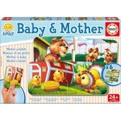 Puzzle infantil Educa  Baby Mamá y bebé