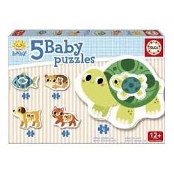 Puzzle Educa progresivo. 5 baby puzzles Animales Granja
