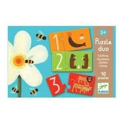 Puzzle duo. Números