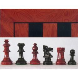Conjunto Stauton rojo/negro