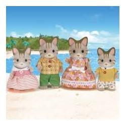 Sylvanian 5180 Familia de gatos rayas
