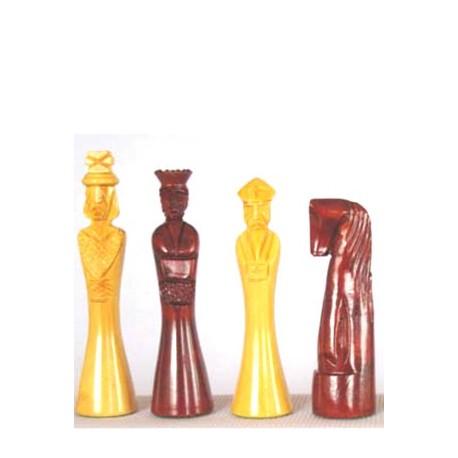 Fichas de ajedrez Talla Estilizadas