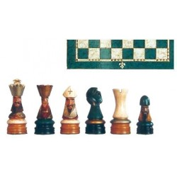 Conjunto de ajedrez Corona Policromado verde