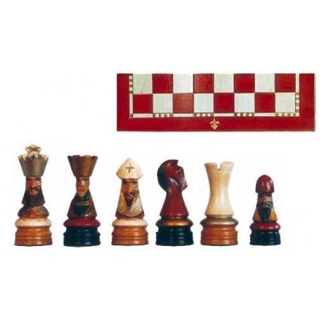 Conjunto de ajedrez Corona Policromado rojo